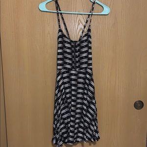 NWOT SO Black/White with Blue Skater Dress